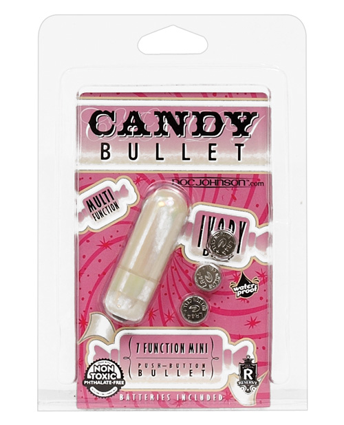 DOC JOHNSON CANDY BULLET IVORY DROP