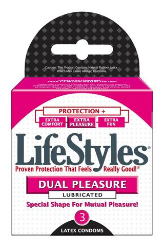 Lifestyles Dual Pleasure 3Pk