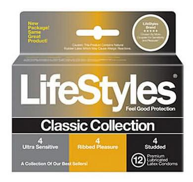 Lifestyles Classic Collection 12 Pack