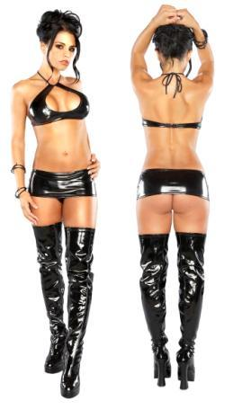 Halter, Mini Skirt, & G Black L/X