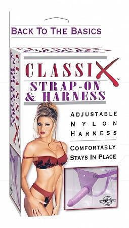 CLASSIX STRAP ON WITH HARNESS - PURPLE(out tii 11-11)