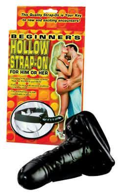 HOLLOW STRAP ON BLACK