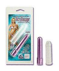 Micro Massager w/ Silicone Sleeve- Purple
