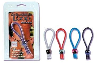 Adjustable Loop Cock Ring - Blue