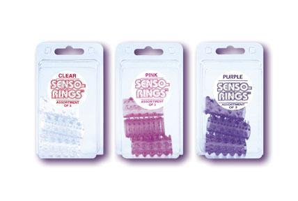 SENSO RINGS-3 PACK PURPLE