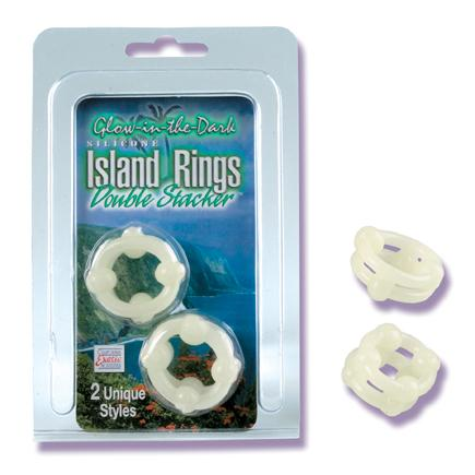 ISLAND RINGS DOUBLE STACKERS- GLOW