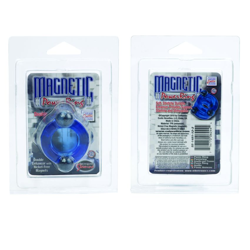MAGNETIC POWER RING DOUBLE BLUE