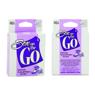 SEX ON THE GO INTIMATE AROUSAL WIPE FOR HER