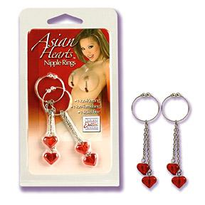 ASIAN HEARTS RINGS NIPPLE RINGS
