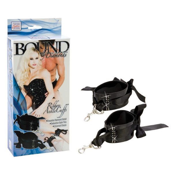 BOUND BY DIAMONDS RIBBON ANKLE CUFFS