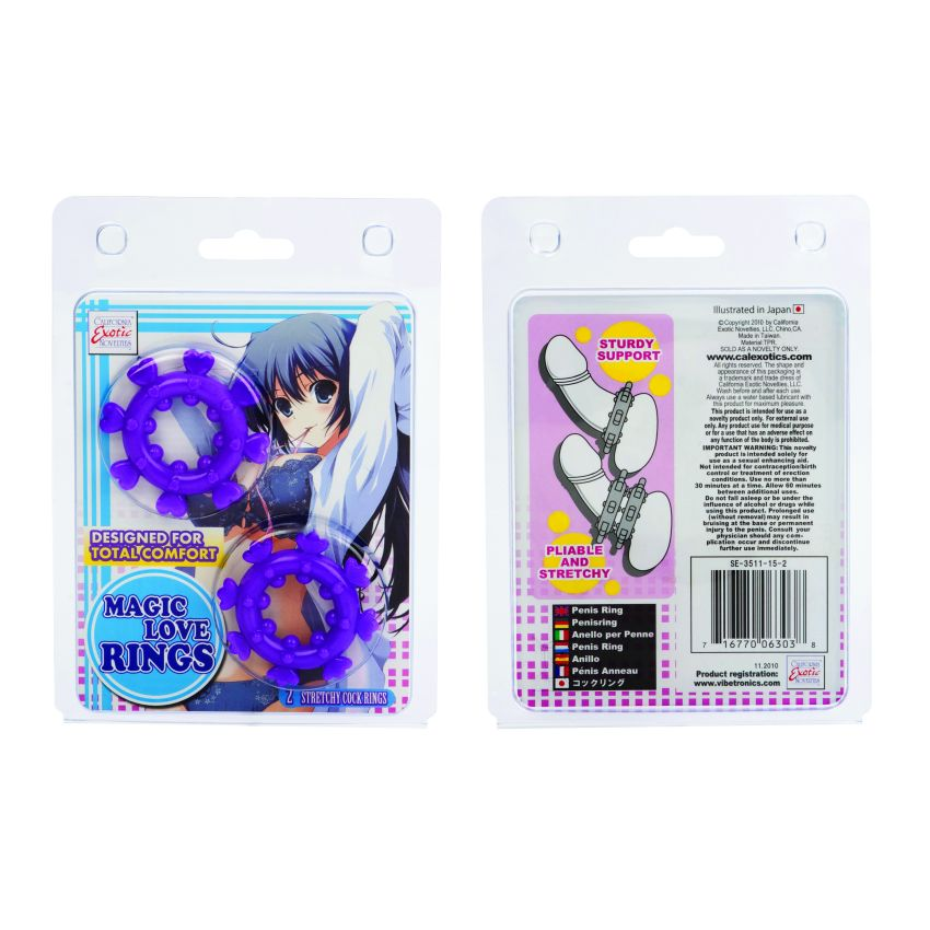 ANIME MAGIC LOVE RINGS PURPLE