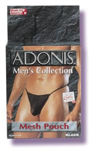 Adonis Men's Mesh Pouch -Black