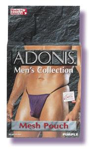 Adonis Men's Mesh Pouch -Purple