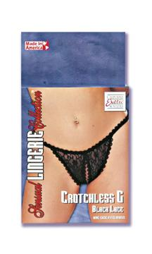 CROTCHLESS G BLACK LACE