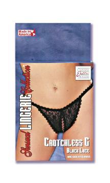 CROTCHLESS G BLACK LACE