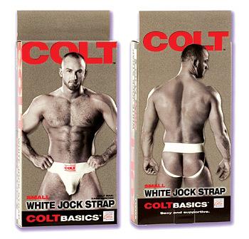 COLT Basics White Jock Strap